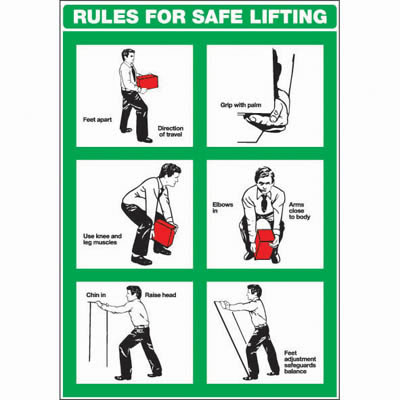 Rules For Safe Lifting - 600 x 420mm)