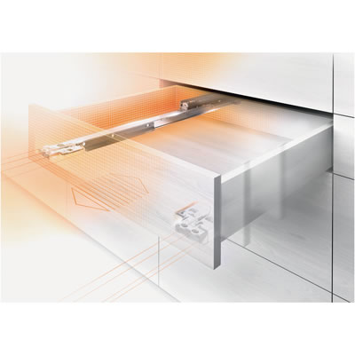 Blum Movento Drawer Runner -  BLUMOTION (Soft Close) - Double Extension - 40kg - 450mm
