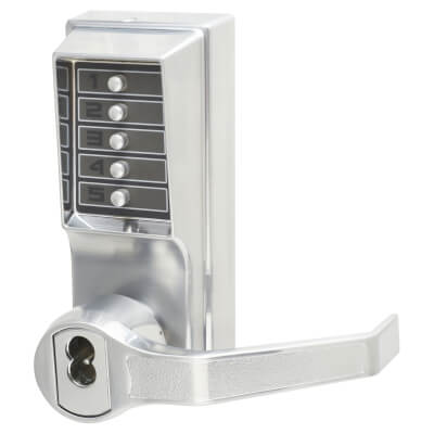 Kaba Unican Digital Panic Operator Mechanical Lever - Right Hand - Satin Chrome