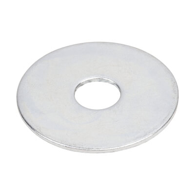 Penny Repair Washer - 38mm Diameter x 10mm Hole - Zinc Plated - Pack 10