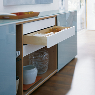 Blum Movento Base Mounted Drawer Runner - Double Extension - 40kg - 500mm