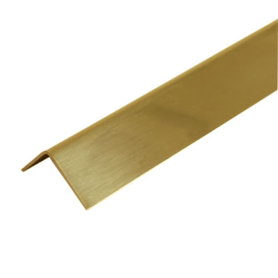 2000mm Sheet Finished Angle - 19 x 19 x 0.91mm - Polished Brass)