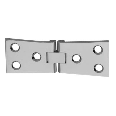 Counter Flap Hinge - 100 x 40 x 3mm - Polished Chrome