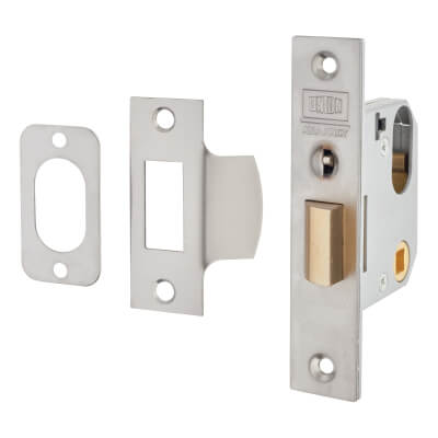 UNION® 2332 Mortice Nightlatch - 77mm Case - 60mm Backset - Satin Stainless Steel