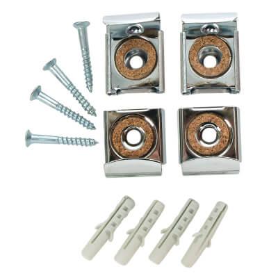 Mirror Bracket - 31 x 25mm - Nickel Plated - Pack 4