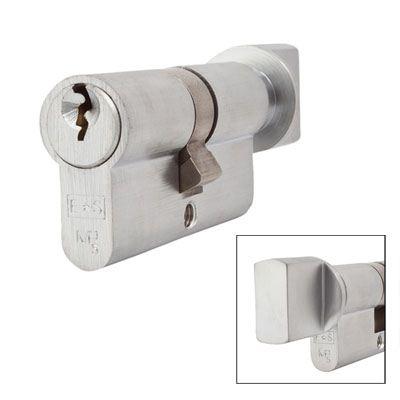 Eurospec MP5 - Euro Cylinder and Turn - 30[k] + 30mm - Satin Chrome  - Keyed Alike