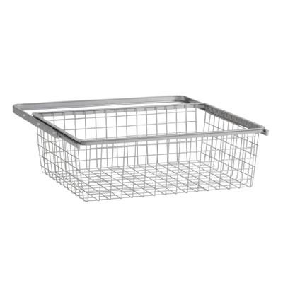 elfa® Basket and Frame - 610 x 440 x 185mm - Platinum