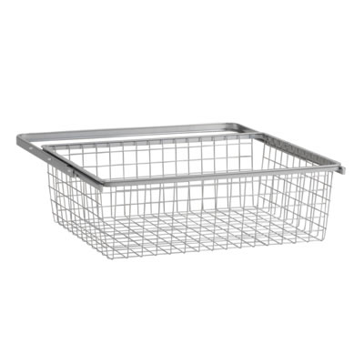 elfa® Basket and Frame - 610 x 440 x 185mm - Platinum