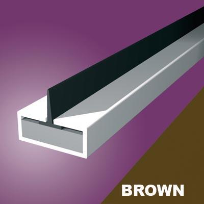 Pyroplex Single Centre Flipper Intumescent Strip - 10 x 4 x 2100mm - Brown - Pack 10