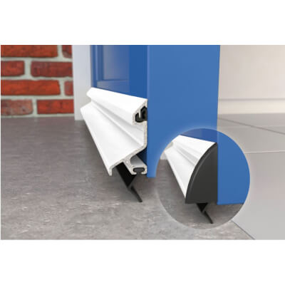 Exitex Standard Rain Deflector and Drip Bar - 914mm - White