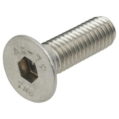 TIMco Countersunk Head Socket Screws - M8 x 25mm - A2 Stainless Steel - Pack 10