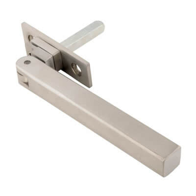 Altro Square Locking Espagnolette Fastener - uPVC/Timber - Satin Stainless Steel