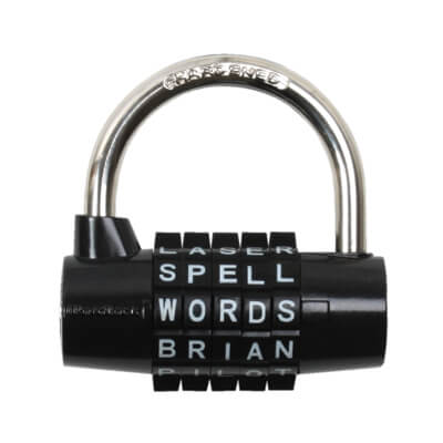 Wordlock 5 Dial Padlock - 69mm