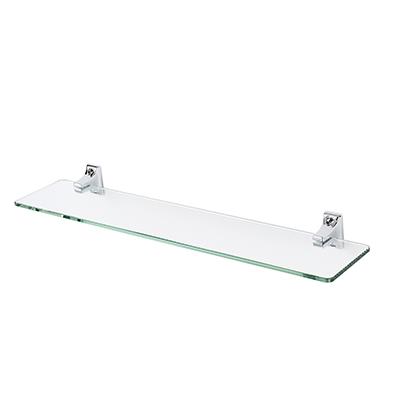 Croydex Sutton Glass Shelf - 500mm - Polished Chrome)