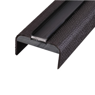 Lorient 44mm Intumescent Door Edge Protector - Hessian - Brown Strip
