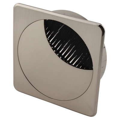 ION Mirror Effect Square Cable Tidy - 80mm - Brushed Nickel)