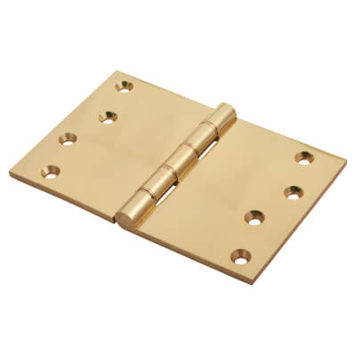 Jedo Quality Projection Hinge - 102 x 152 x 4mm - Polished Brass)