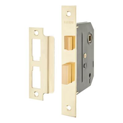 UNION® 2295 2 Lever Sashlock - Key Number M40H - 76mm Case - 57mm Backset - Brass