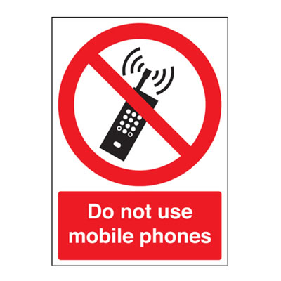 Do Not Use Mobile Phones - 210 x 148mm - Rigid Plastic