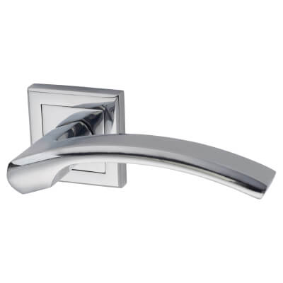 Morello Element Lever Door Handles on Rose - Polished Chrome)