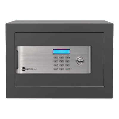 Yale® Certified Home Safe - 250 x 350 x 300mm - Grey)