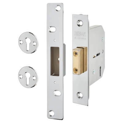 ERA® Viscount 5 Lever Deadlock - 76mm Case - 56mm Backset - Chrome Effect