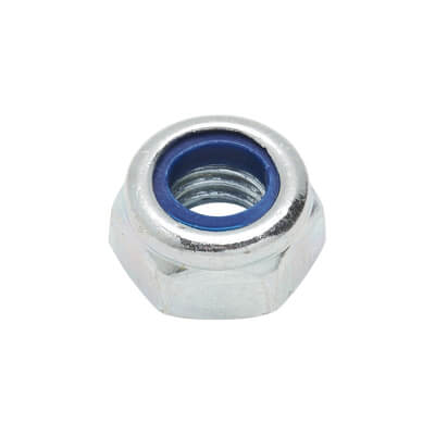 Self Locking Nut Nylon Insert - M6 - Zinc Plated - Pack 100