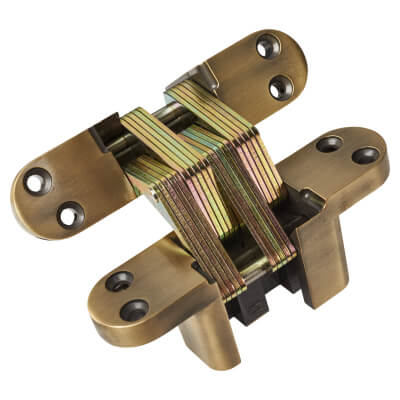 Tago Concealed Soss Hinge - 140 x 35mm - Antique Brass)