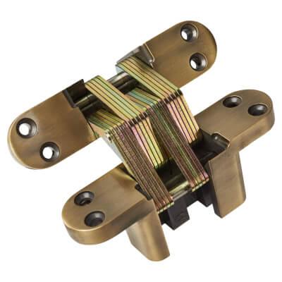 Tago Concealed Soss Hinge - 140 x 35mm - Antique Brass