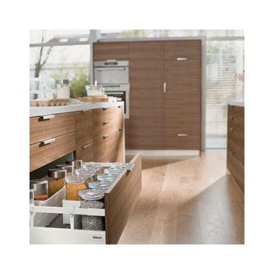 Blum Tandembox Antaro Pan Drawer - BLUMOTION (Soft Close) - (H) 206 x (D) 500 x (W) 800mm - Grey
