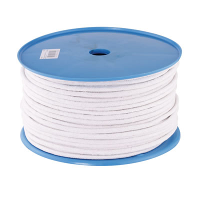 Waxed Cotton Sash Cord - 6mm - 100 metre Coil)