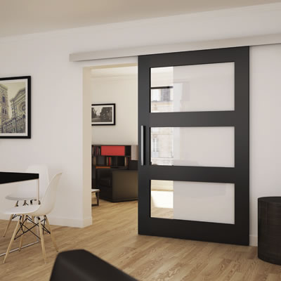 Coburn Panther Sliding Door Steel Pelmet - 2400mm & Interior Timber Sliding Door Systems | IronmongeryDirect