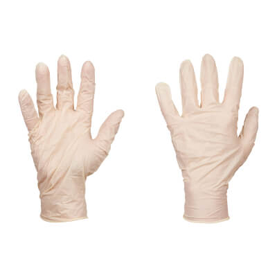 Disposable Latex Gloves Box - Large - Pack 100)