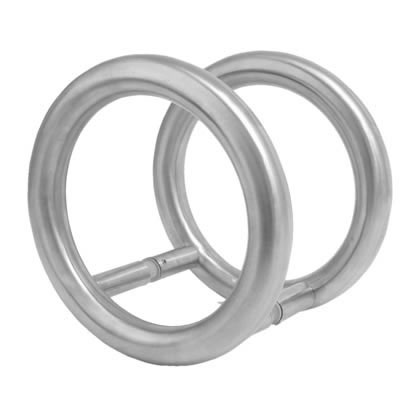 Altro 25mm Style 3 Back to Back Fix Pull Handle - 100mm Centres - Satin Stainless Steel