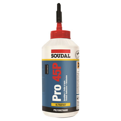 Soudal Pro 45P Polyurethane Wood Adhesive - 750ml)