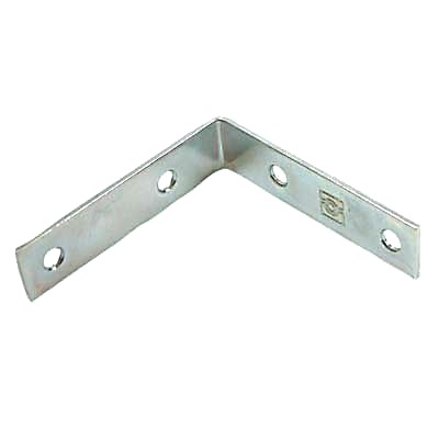 Corner Angle Bracket - 38mm - Bright Zinc Plated - Pack 10