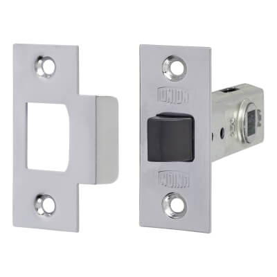 UNION® 2648 Tubular Mortice Latch - 64mm Case - 44mm Backset - Silver Enamel)