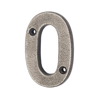 Olde Forge 78mm Numeral - 0 - Pewter