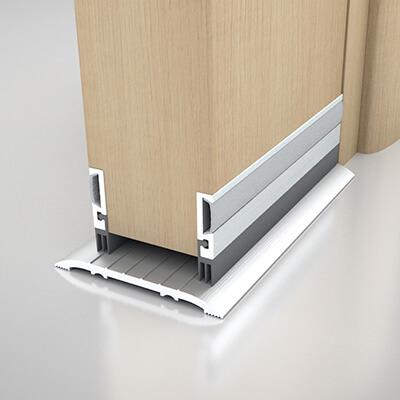 Norsound 855 Door Bottom Seal - 1000mm - Satin Anodised Aluminium
