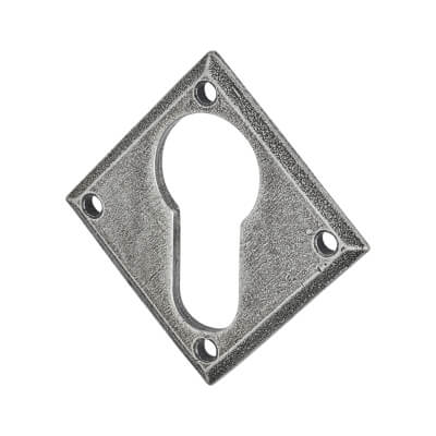 Olde Forge Diamond Escutcheon - Euro - Pewter