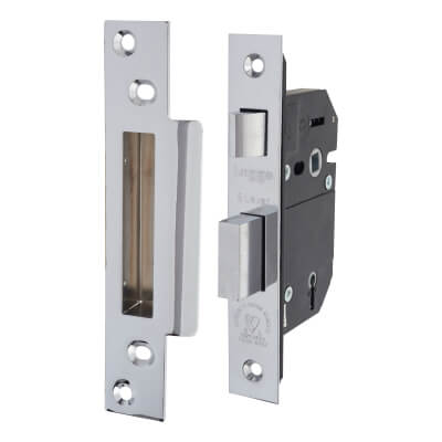 Legge Heavy Pattern BS3621:2007 5 Lever Sashlock - 68mm Case - 45mm Backset - Stainless Steel