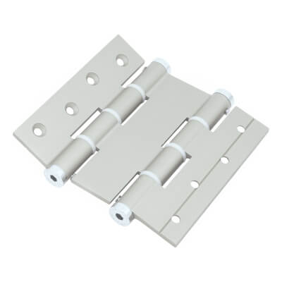 Architectural Double Action Spring Hinge - 120mm - Silver)