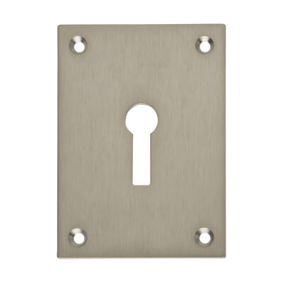 Jumbo Escutcheon - 65.5 x 47.6mm - Keyhole - Satin Stainless Steel