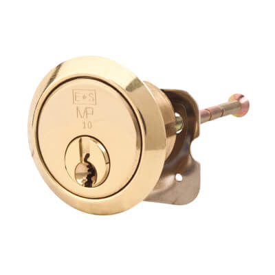 Eurospec MP10 - Rim Cylinder - 32mm - Polished Brass  - Keyed Alike