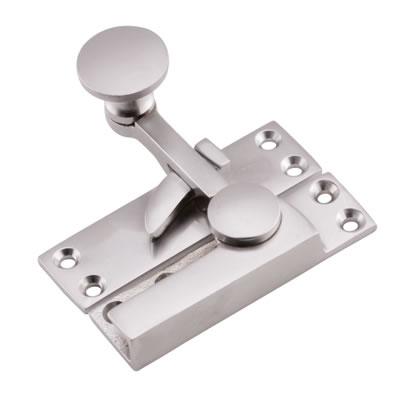 Quadrant Arm Sash Fastener - 72mm - Satin Chrome