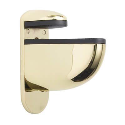Pelican Adjustable Shelf Bracket - 6-22mm Shelf Thickness - Brass