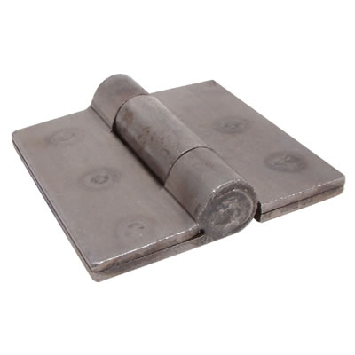 Heavy Welded Double Flap Hinge - 100 x 100mm - Self Colour Steel - Pair)