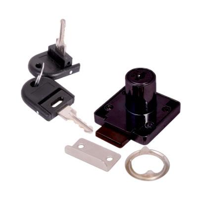 Cylinder Deadbolt - 19 x 22mm - Keyed to Differ - Black Nickel