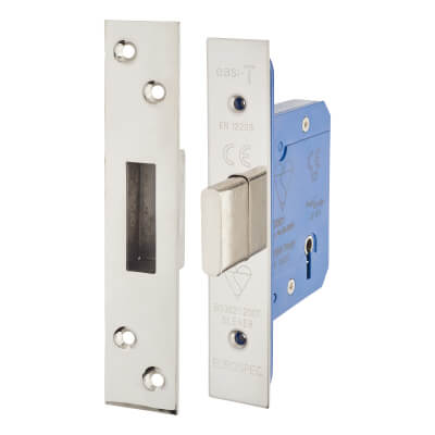 A-Spec BS3621 5 Lever Deadlock - 65mm Case - 44mm Backset - Polished Stainless