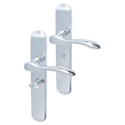 Elan Altea Door Handle - Bathroom Set - Polished Chrome)